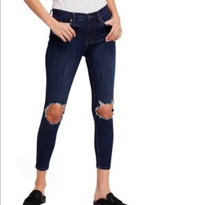 Free People Knee Busted Skinny Jeans